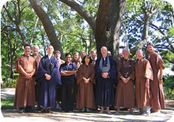 Practicing the Dharma in the Tampa Bay area - Clear Water Zen Sangha following a 2005 Sesshin in Pinellas County, Florida