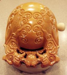 Photo of mokugyo drum.