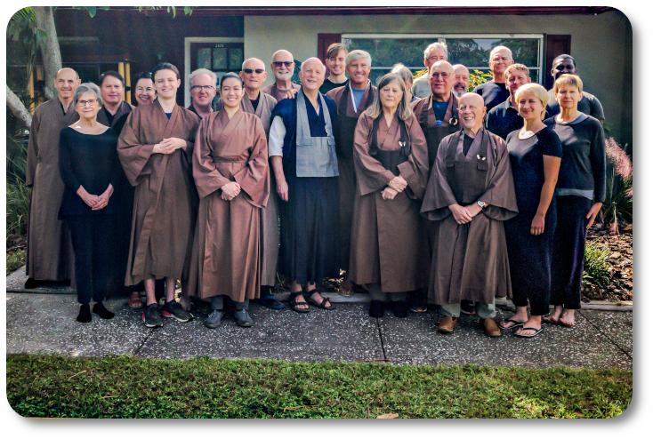 Clear Water Zen Buddhist sangha members from Tampa, Clearwater, St. Petersburg, Palm Harbor, Bradenton, Sarasota and throughout the Tampa Bay area